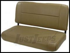Rugged Ridge Fixed Vinyl Rear Seat Levi tan denim 1955-95 Wrangler and CJ 13461.04