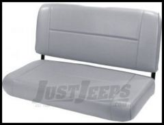 Rugged Ridge Fixed Vinyl Rear Seat Gray denim 1955-95 Wrangler and CJ 13461.09