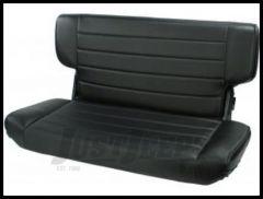 Rugged Ridge Fold & Tumble Vinyl Rear Seat Black denim 1997-02 TJ Wrangler 13463.15