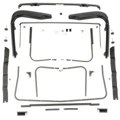 Omix-ADA Factory Soft Top Hardware For 1997-06 Jeep Wrangler TJ & TJ Unlimited Models 13510.03