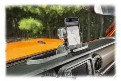 Rugged Ridge Dash Multi-Mount Phone Kit For 2018+ Jeep Gladiator JT & Wrangler JL 2 Door & Unlimited 4 Door Models 13551.23