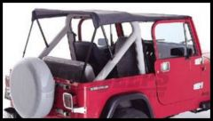 Rugged Ridge Sun Top Plus in Black Denim 1976-91 Wrangler and CJ 13554.15