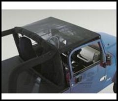 Rugged Ridge Sun Stop Short Mesh Summer Brief For Black Vinyl MESH 1992-95 Jeep Wrangler YJ 13575.01