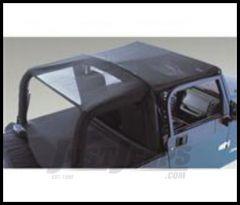 Rugged Ridge Sun Stop Mesh Long Summer Brief For Black Vinyl MESH 1992-95 Jeep Wrangler YJ 13577.01