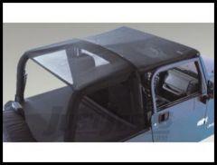 Rugged Ridge Pocket Island Topper Black vinyl mesh fabric 1997-06 TJ Wrangler and Rubicon 13578.01