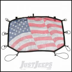 Rugged Ridge Eclipse Sun Shade With Us Flag Design For 2007-18 Jeep Wrangler JK 2 Door & Unlimited 4 Door Models 13579.14