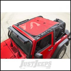 Rugged Ridge Red Full-Length Eclipse Sun Shade For 2007-18 Jeep Wrangler JK 2 Door 13579.26