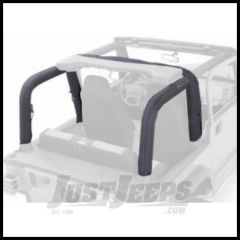 Rugged Ridge Roll Bar Cover Kit in Black Denim 1992-95 Wrangler YJ 13611.15