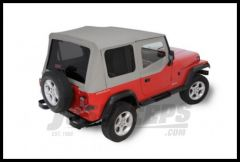 Rugged Ridge (Grey Denim) Replacement Soft Top with Tinted Windows and Upper Door Skins For 1987-95 Wrangler YJ 13702.09