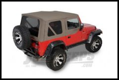 Rugged Ridge Replacement Soft Top with Tinted Windows and Upper Door Skins Khaki Diamond 2003-06 Wrangler TJ and Rubicon 13708.36
