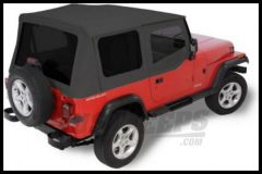 Rugged Ridge XHD Replacement Soft Top with Upper Door Skins & Tinted Windows Black Denim 1988-95 Jeep Wrangler YJ 13722.15