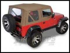 Rugged Ridge XHD Replacement Soft Top with Upper Door Skins Dark Tan 1997-02 TJ Wrangler 13723.33