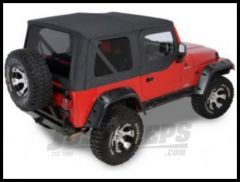 Rugged Ridge XHD Replacement Soft Top with Upper Door Skins & Tinted Windows Black Denim 1997-02 TJ Wrangler 13724.15