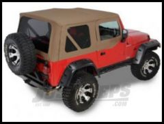 Rugged Ridge XHD Replacement Soft Top with Upper Door Skins & Tinted Windows Dark Tan 1997-02 TJ Wrangler 13724.33