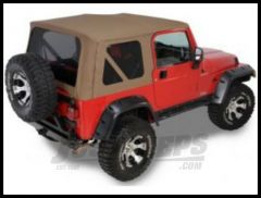 Rugged Ridge XHD Replacement Soft Top with Tinted Windows Dark Tan 1997-02 TJ Wrangler 13726.33