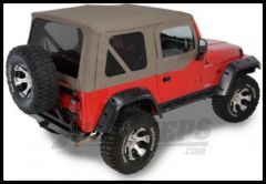 Rugged Ridge XHD Replacement Soft Top with Tinted Upper Door Skins Khaki Diamond 2003-06 TJ Wrangler 13728.36
