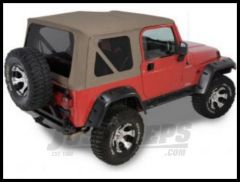 Rugged Ridge (Khaki Diamond) XHD Replacement Soft Top with Tinted Windows For 2003-06 Wrangler TJ Models 13730.36