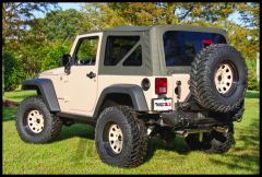 Rugged Ridge Fabric Replacement Soft Top Khaki Diamond For 2007-09 Jeep Wrangler JK and Rubicon 13736.36