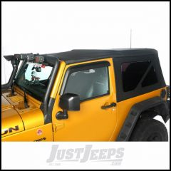 Rugged Ridge Black Diamond Sailcloth Soft Top Replacement Skin With 30 mil Windows For 2010-18 Jeep Wrangler JK 2 Door With Cable-Style Top 13737.01