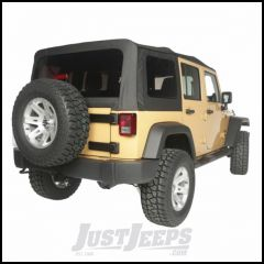 Rugged Ridge Black Diamond Vinyl Soft Top Replacement Skin With 30 mil Windows For 2010-18 Jeep Wrangler JK Unlimited 4 Door Models With Cable-Style Top 13742.35