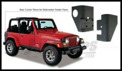 Bushwacker TrailArmor Rear Corners Guards For Bushwacker Fender Flares For 1997-06 Jeep Wrangler TJ & Unlimited Models