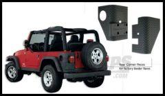 Bushwacker TrailArmor Rear Corners Guards For Factory Fender Flares For 1997-06 Jeep Wrangler TJ & Unlimited Models