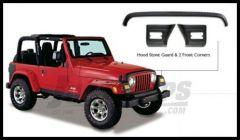 Bushwacker TrailArmor Hood Stone Guard & Front Corners Set For 1997-06 Jeep Wrangler TJ Models