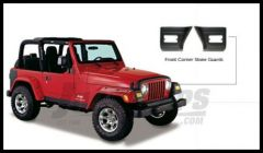 Bushwacker TrailArmor Front Corner Stone Guards For 1997-06 Jeep Wrangler TJ Models
