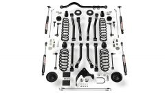 "TeraFlex 4"" Suspension System With 8 Full FlexArm With 9550 Shocks For 2007-18 Jeep Wrangler JK 2 Door 1451403"