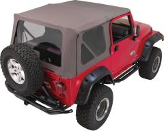 Rampage Complete Soft Top Kit In Khaki Diamond For 1997-06 Jeep Wrangler TJ With No Upper Half Doors 68736