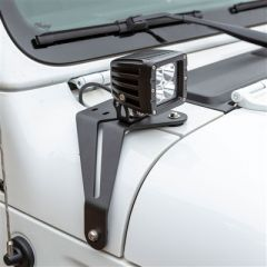 Aries Windshield LED 2in Cube Lights & Brackets for 18-20+ Jeep Wrangler JL, JLU / Gladiator JT