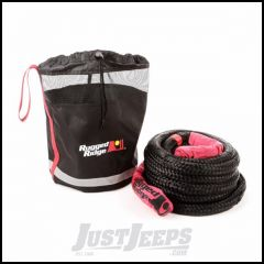"""Rugged Ridge 7/8"""" X 30' Kinetic Recovery Rope With 7,500 Lbs Load Limit With Cinch Bag 15104.30"""