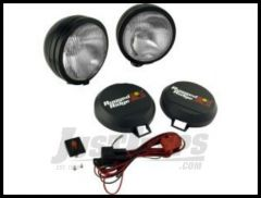 "Rugged Ridge HID Offroad 5"" Round Fog Light Kit (Pair) in Black 15205.52"