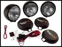 "Rugged Ridge HID Offroad 6"" Round Fog Light Kit (Three Lights) in Black 15205.61"
