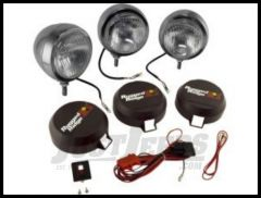 "Rugged Ridge Stainless Steel HID Offroad 6"" Round Fog Light Kit (Three Lights) 15206.61"