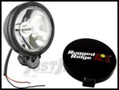 "Rugged Ridge 6"" Round Off Road Fog Light in Black 100W 15207.01"