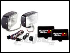 Rugged Ridge 5X7 Off Road Driving Light Kit with Wiring Harness in Black 100W (Pair) 15207.55