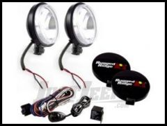 "Rugged Ridge 6"" Off Road Slim Light Kit with Wiring Harness in Black 100W (Pair) 15207.58"