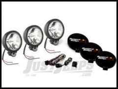 "Rugged Ridge 6"" Round Off Road Fog Light Kit with Wiring Harness in Black 100W (3 Piece) 15207.61"