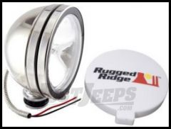 "Rugged Ridge Stainless Steel 6"" Round Off Road Fog Light 100W 15208.01"