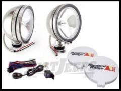 """Rugged Ridge Stainless Steel 6"""" Round Off Road Fog Light Kit with Wiring Harness 100W (Pair) 15208.51"""