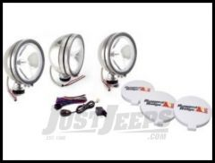 """Rugged Ridge Stainless Steel 6"""" Round Off Road Fog Light Kit with Wiring Harness 100W (3 Piece) 15208.61"""