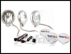 """Rugged Ridge Stainless Steel 6"""" Off Road Slim Light Kit with Wiring Harness 100W (3 Piece) 15208.68"""