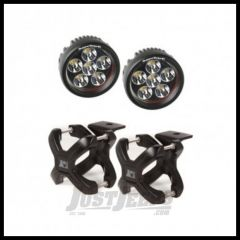 Rugged Ridge X-Clamp And Round LED Light Kit Black For Universal Applications (Pair) 15210.05