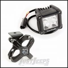 "Rugged Ridge 2.25"" To 3"" Black X-Clamp Kit With 3"" Square Combo High/Low Beam LED (Pair) 15210.08"