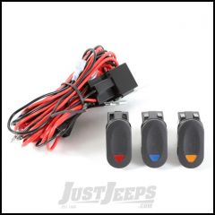 Rugged Ridge Triple Connection Wiring Harness With 3 Rocker Switches 15210.73