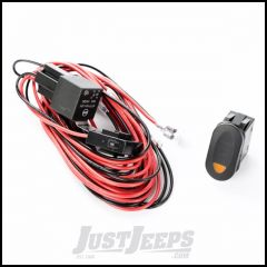 Rugged Ridge Single Connection Wiring Harness With Amber Marine Style Rocker Switch 15210.74