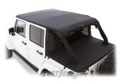 Bushwacker Trail Armor Frameless Flat Back Soft Top For 2007-18 Jeep Wrangler JK Unlimited 4 Door Models