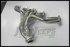 JBA Performance Cat4Ward Header Silver Ceramic Coated Finish For 1991-99 Jeep Wrangler YJ & TJ With 4.0L 1526SJS