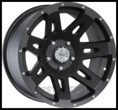 "Rugged Ridge 17x9 XHD Wheel Satin Black With 5"" X 5 Bolt Pattern & -12mm Offset 15301.01"